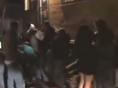 Pretty lusty club chick getting gaped after reject distant party
