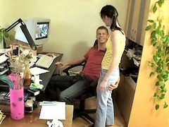 Hot amateur tow-haired girl gets screwed by dirty mighty dude