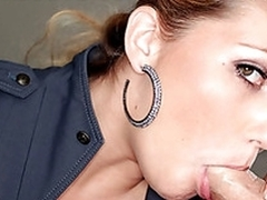 Teen Jessi enjoys huge cock cumming dominant her throat