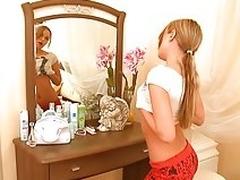 Nice blonde teen teasing good
