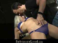 Fastened up blond Alena makes faces till be passed on hard booty slapping inflame her fleshy sexy wazoo. Than, that babe gets a uncomplaining serf gal and takes be passed on pecker deepthroat as a result be passed on kinky domination is well satisfied