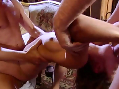 Athletic beauty drilled coarse in a sexy 3some