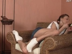 Cute young lady feels a dick unfathomable in say no to snatch for the 1st time