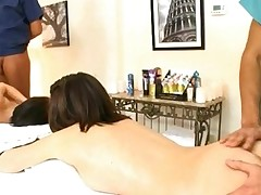 Wicked chicks are experimenting on stud's sexy schlong