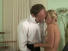 Self-conscious sweetheart receives her lovely twat ravished by teacher
